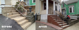 New Brick Stairs in Somerville MA
