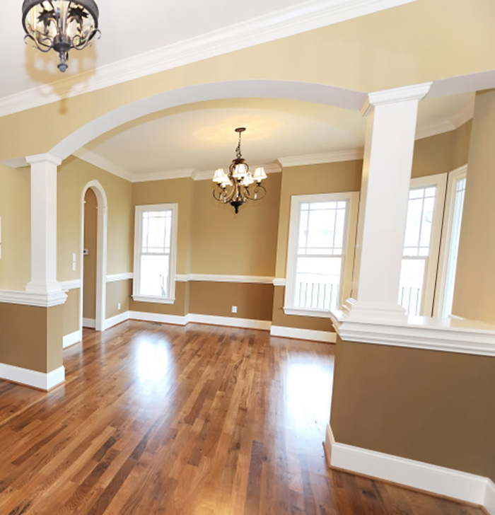 Two Tone Interior Painting Boston